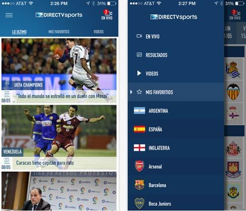 App de DirecTV Sports