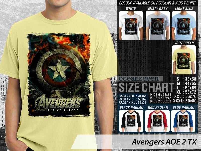Jual Kaos Captain America superhero Avengers 2