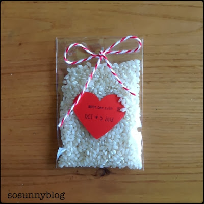 DIY wedding rice packaging. Arroz para boda