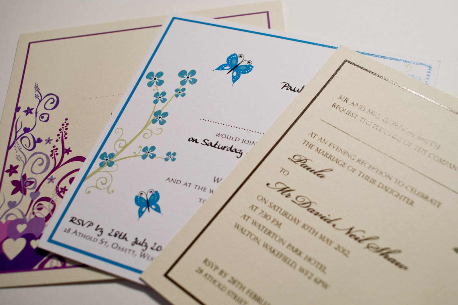 hippie wedding invitations