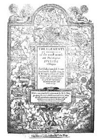 Cover of John Dee's Book The Mathematicall Praeface to Elements of Geometrie of Euclid of Megara