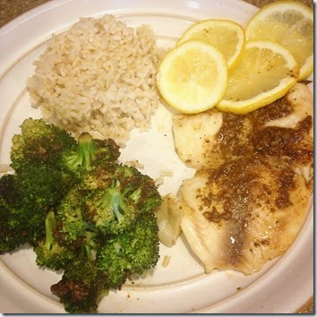 Tilapia & Broccoli for One