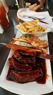 BBQ Baby Back Ribs and Grilled Chicken