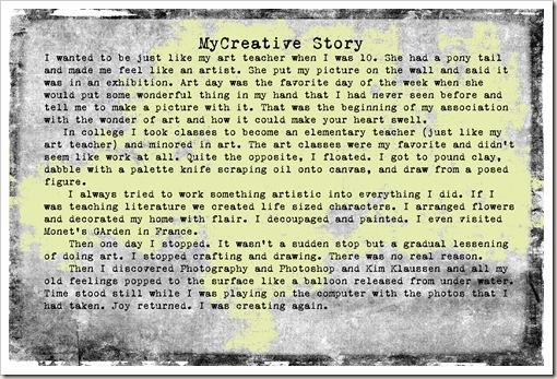 my creative story