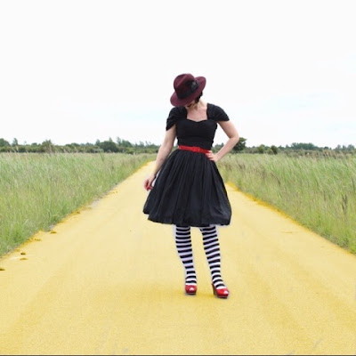 unique vintage, garden state dress, wicked witch, wizard of oz