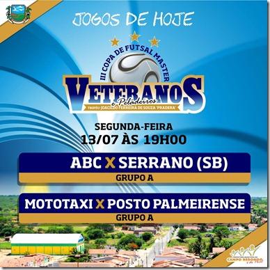 III COPA DE PELADEIROS  - TABELA - 13.07 - CAMPO REDONDO