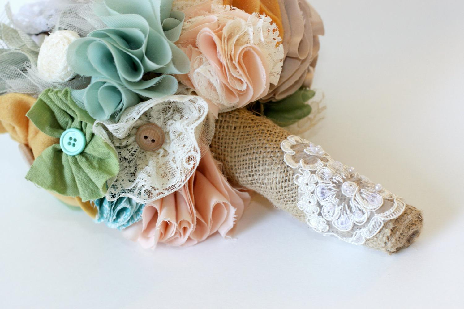 Custom Bridal Bouquet- Shabby
