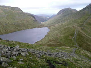 Grisedale Tarn & Hause from ascent of Seat Sandal