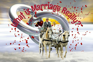 rings, horse-drawn carriage, fantasy, heart, love