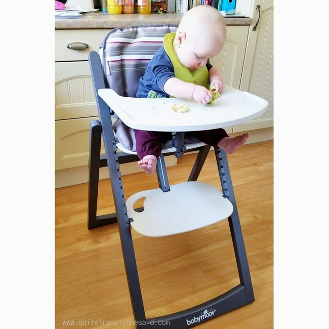 babymoov light wooden high chair baby-led weaning