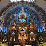 inside the notre dame in Montreal, Quebec, Canada