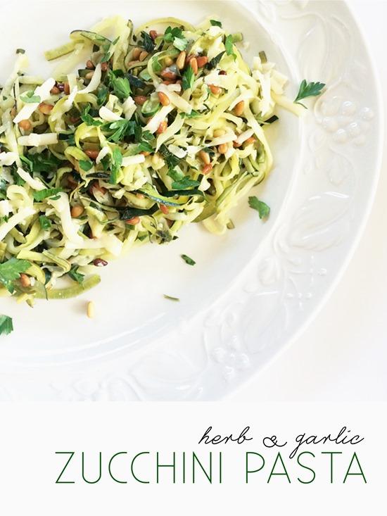herb & garlic zucchini pasta
