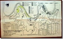 Trail map for the State Park