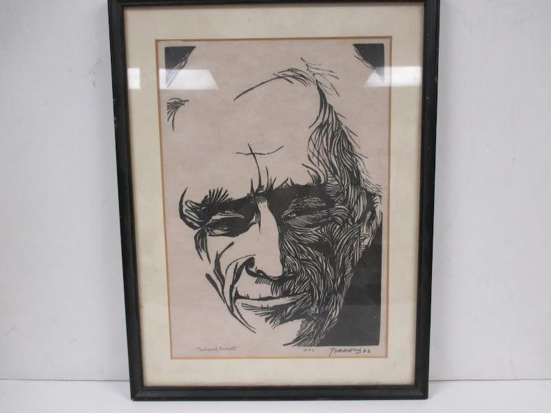 Antonio Frasconi Woodblock Portrait of Betrand Russell