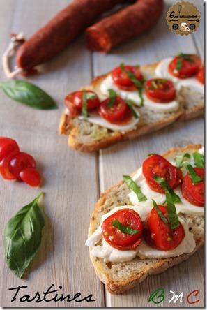Tartines Basilic, Mozza, Chorizo 4
