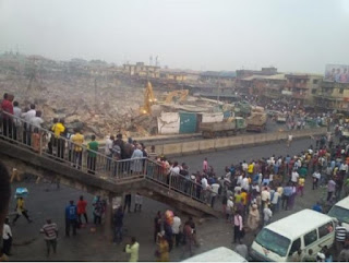Lagos State Government demolishes Oshodi market