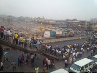 Lagos State Government demolishes Oshodi market