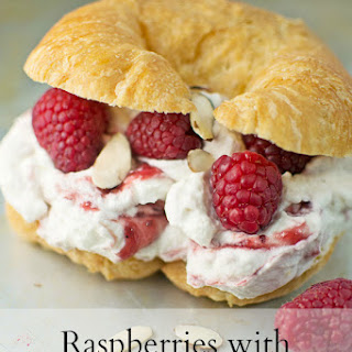 Raspberries with Almond Cream Pastries