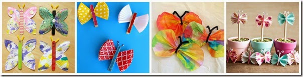 Butterfly Crafts for Kids 1-4