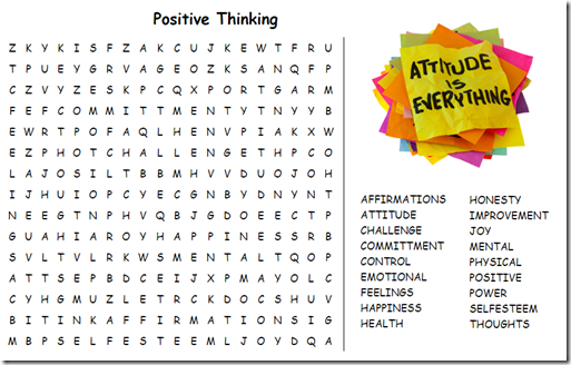 Printables Positive Thinking Worksheets 308 today week17 s15 may 8th positivethinking