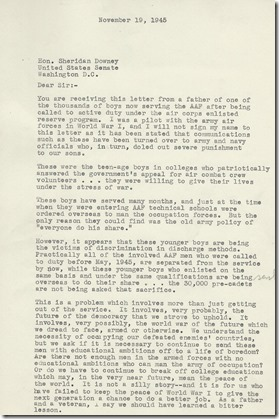 Anonymous Letter 11_19_1945 page 1typed