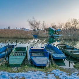 Company by Matija Šimunić - Transportation Boats ( water, winter, nature, boats, river )