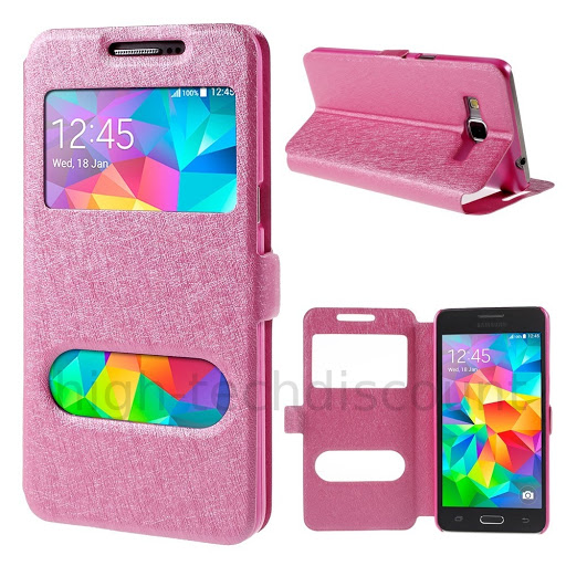 Housse etui coque view case pour samsung g530h galaxy for Housse samsung galaxy grand prime