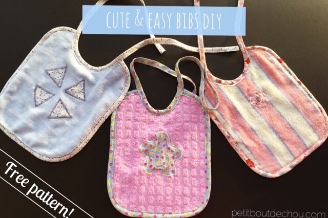 Cute and easy bibs DIY with free pattern