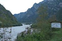 Von Barcis Richtung Passo San Osvaldo (872m) und Longarone durch die Schlucht des Torrente Cellina.