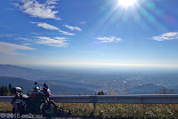 Von Vittorio Veneto über den Monte Frascone zum Col Visentin (1764m) und dem gelichnamigen Rifugio dort oben. Unten die Venezianische Ebene.
