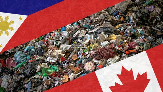 Image of Imported Canadian Trash Illegally Shipped in the Philippines will Return Back to Canada