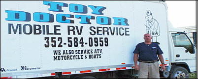 Mobile RV Service Dade City   Zephyrhills  FL   Florida     Toy Doctor