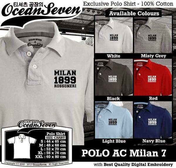 POLO AC Milan 7 Liga Italia distro ocean seven
