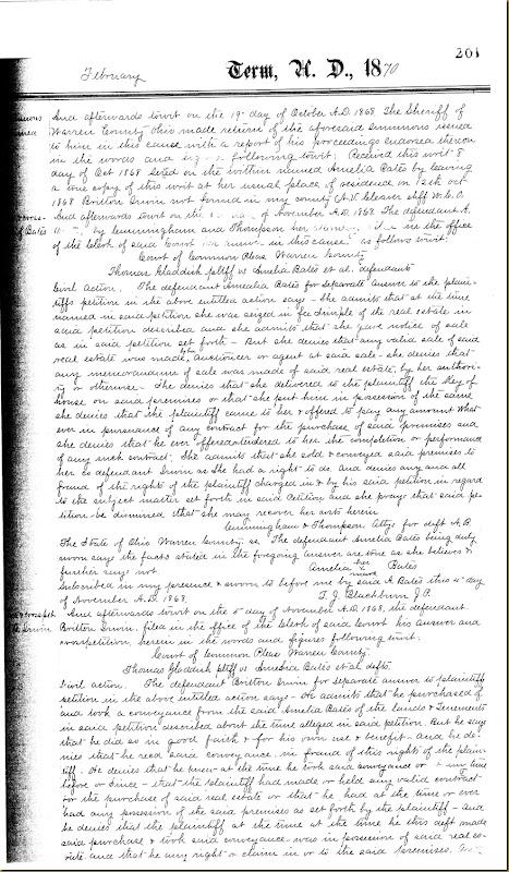Britton Moore Irwin buys land Amelia Bates 1869 5