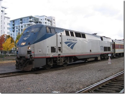 IMG_9780 Amtrak P42DC #170 at Union Station in Portland, Oregon on October 21, 2009
