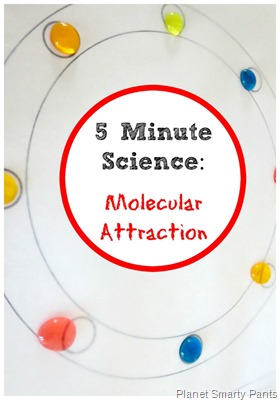 A quick science experiment to show molecular attraction