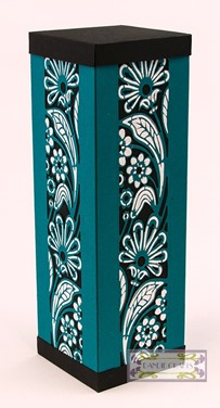 teal and white double stencil Oct 15