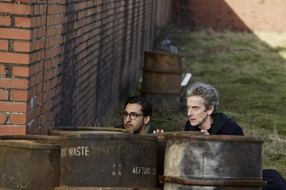 Arsher Ali and Peter Capaldi in Doctor Who Before the Flood