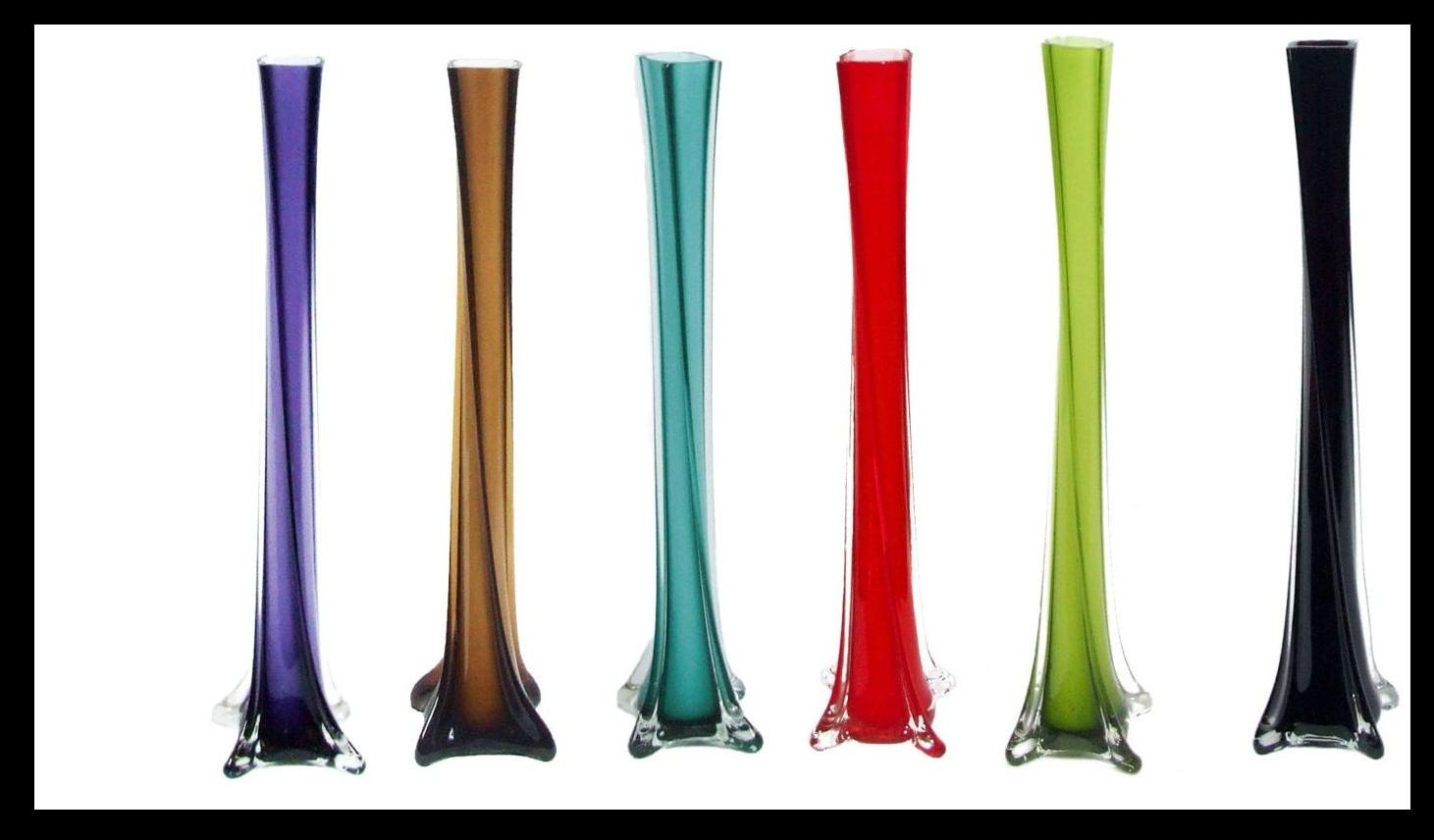 40cm Twisted Glass Lily Vases Wedding Vases centerpeice