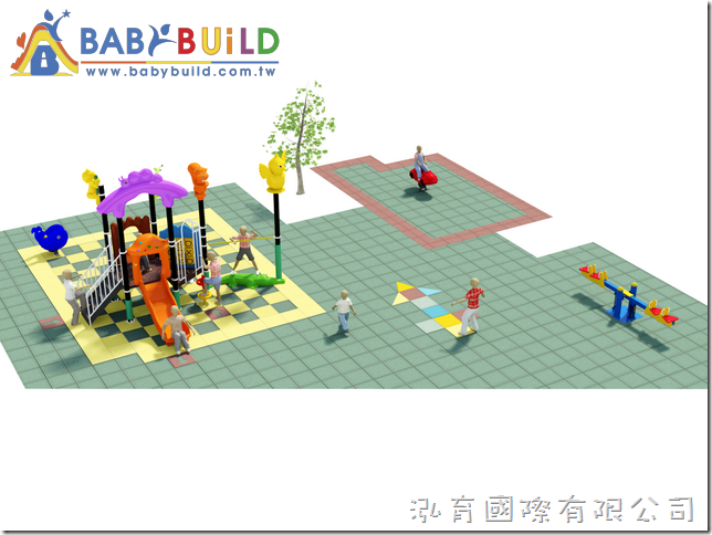 BabyBuild 森林動物主題遊戲樂園