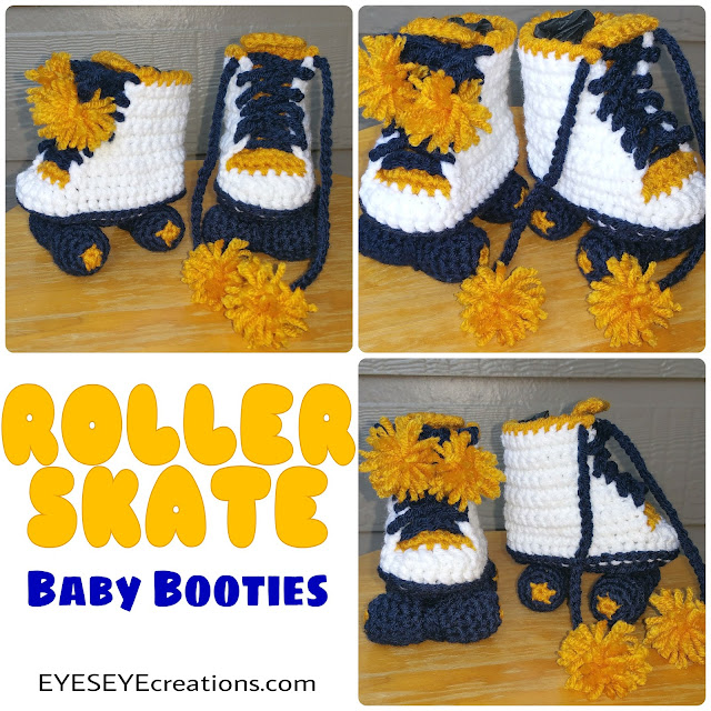 Roller Skate Baby Booties (New Color Combo)