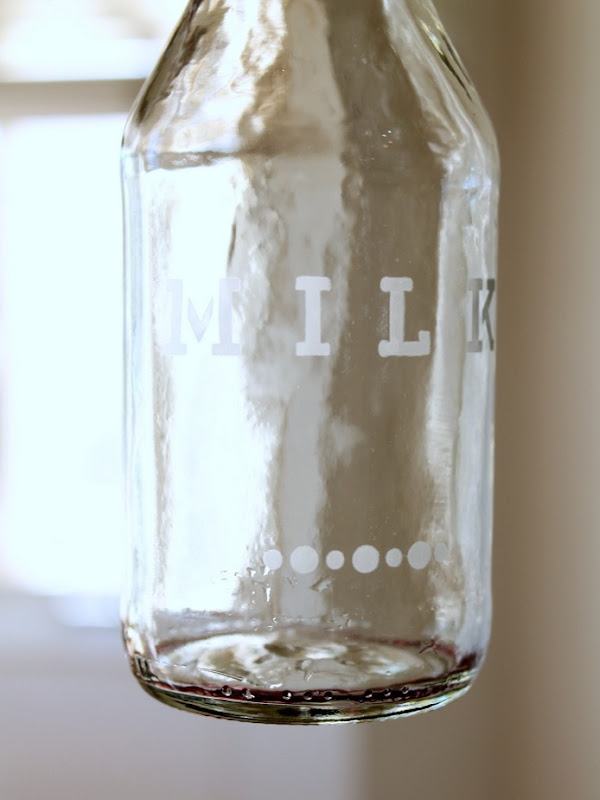 Etched Glass Milk Bottle (2)