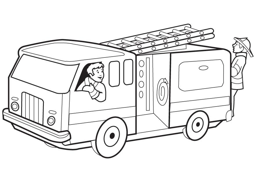 fire truck coloring pages - Fire truck coloring pages fire fighting Kids timetable