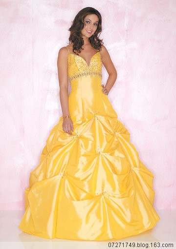 wedding dress yellow