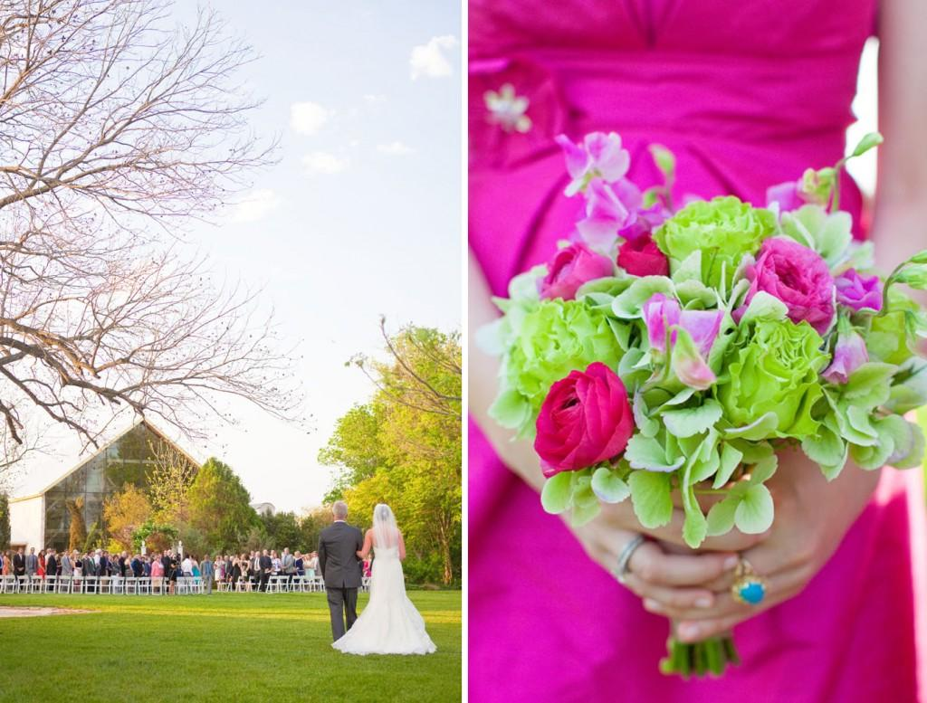 Eliza s blog hot pink wedding dress