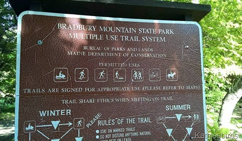 2. Bradbury Mountain sign 6-14-15