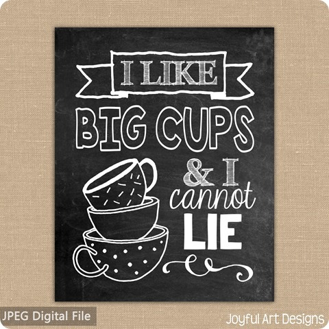 ETSY listing big cups cannot lie