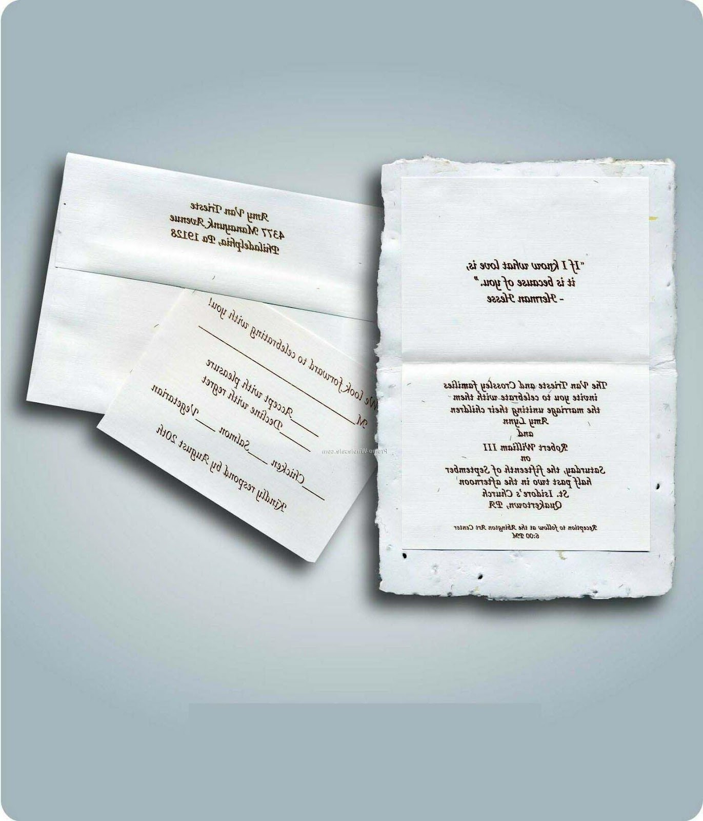 Printed Wedding Invitation
