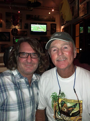 All around in everything to do with skateboarding Jim Gray pictured with Brian Logan at the George Orton birthday bash!