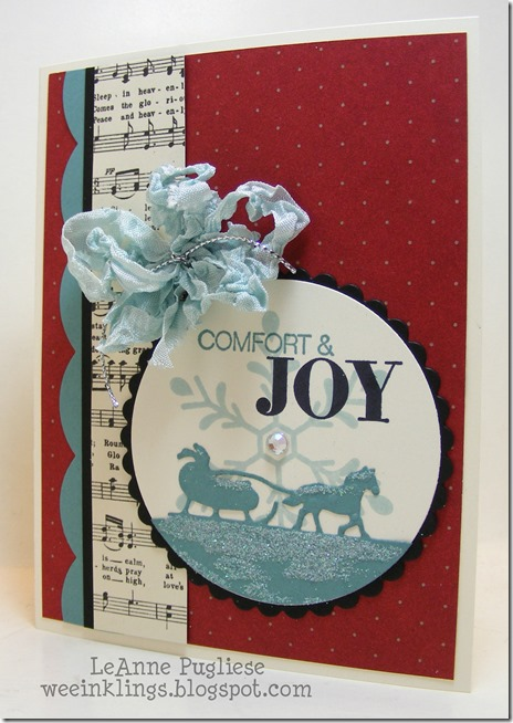 LeAnne Pugliese WeeInklings Holly Jolly Greetings Christmas Stampin Up